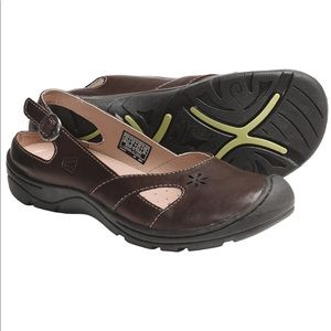Keen Paradise Shoes Leather Slingback Slip-Ons